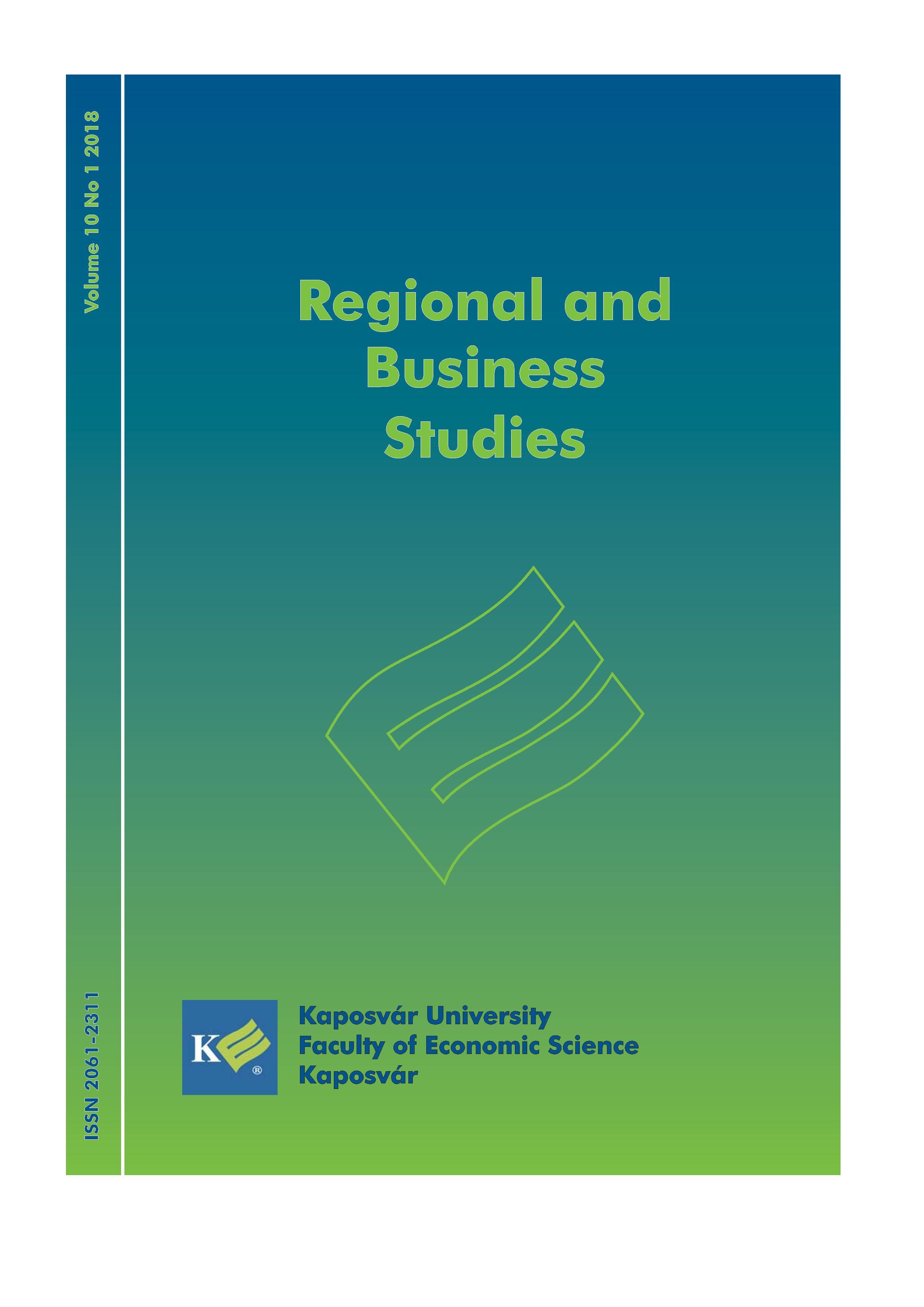 View Vol. 10 No. 1 (2018): Regional Business Studies