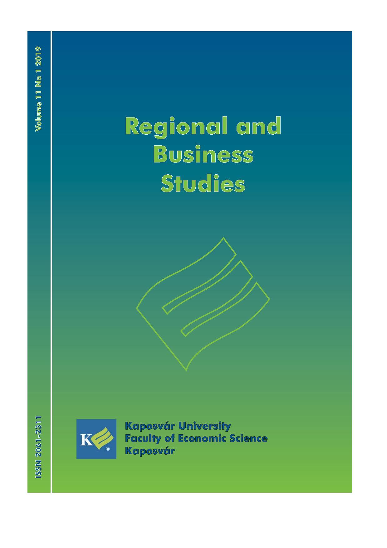 View Vol. 11 No. 1 (2019): Regional Business Studies