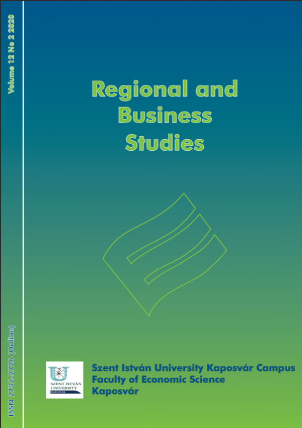 View Vol. 12 No. 2 (2020): Regional and Business Studies